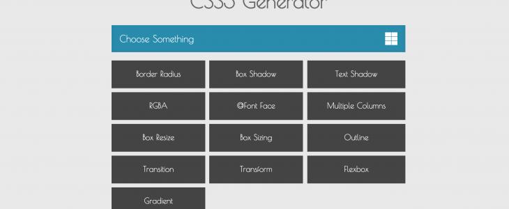 Generador de código CSS3